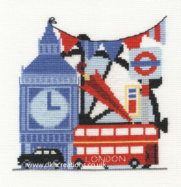 London Sight Seeing Cross Stitch Kit